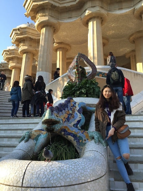 SAF student at Park Guell in Barcelona